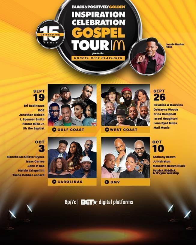 MCDONALDS INSPIRATION CELEBRATION GOSPEL TOUR - 2021